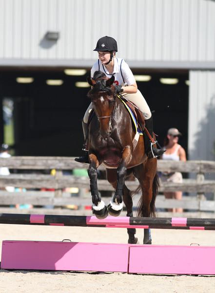 Clara with Adrienne Bushau up at The Lands End Farm Mini Horse Trial. 07.10.2011
