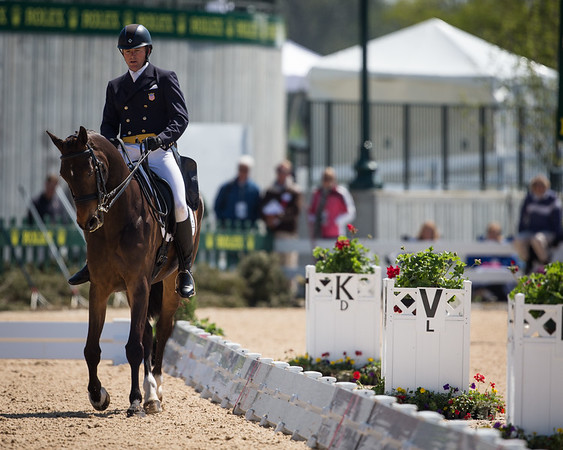 Pawlow and Will Faudree in their dressage test for the Rolex 3-day on 4.25.2013.