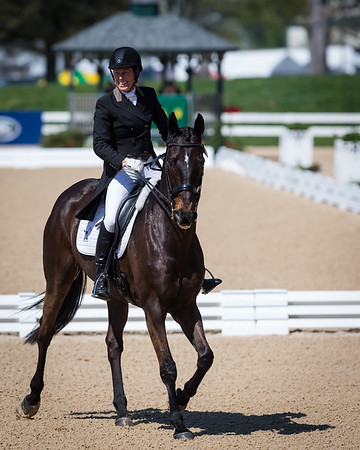 Sal Dali, and Beth Perkins, in the Dressage portion of the Rolex 3-Dat Event at the Ky. Horse Park 4.25.2013.