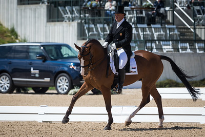 Mar de Amor, and Buck Davidson, in the Dressage portion of the Rolex 3-Dat Event at the Ky. Horse Park 4.25.2013. edit