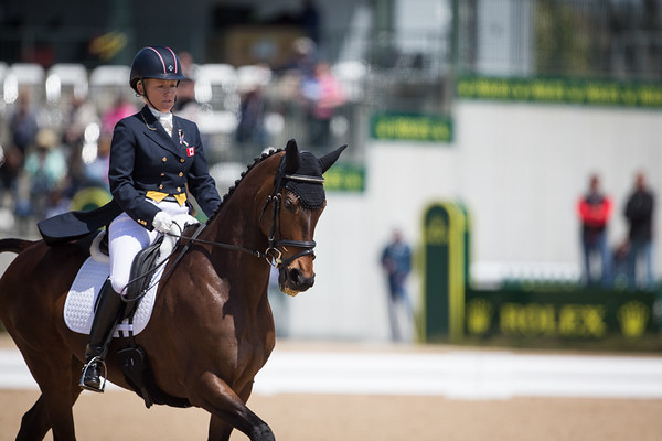 Gin & Juice with Hawley Bennett-Awad going threw their dressage test for Rolex 3-day on 4.25.2013