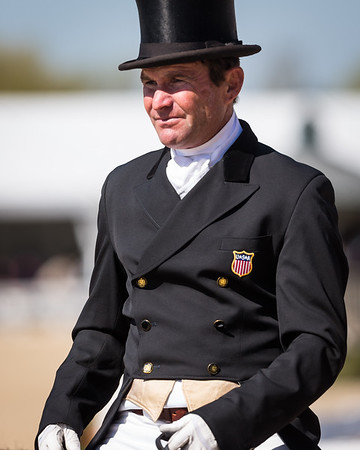 Fernhill Eagle, and Phillip Dutton, compete in the Dressage portion of the Rolex 3-Day Event at the Kentucky Horse Park 4.25.2013.