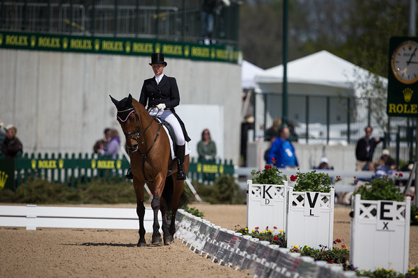 Rockfield Grant Juan and Shandiss McDonald in their dressage test at Rolex 3-day on 4.25.2013