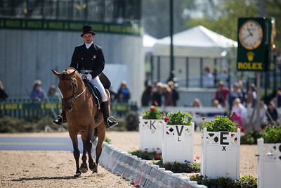 Fernhill Eagle and Phillip Dutton for their dressage test on 4.25.2013 at Rolex 2013.
