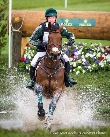 Timothy Bourke and Luckaun Quality in the Cross Country portion of the Rolex 3-Day Event at the Ky. Horse Park 4.30.16.