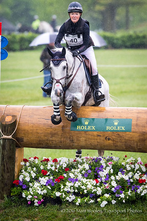 Mikki Kutcha and Rubens D'ysieux in the Cross Country portion of the Rolex 3-Day Event at the Ky. Horse Park 4.30.16.