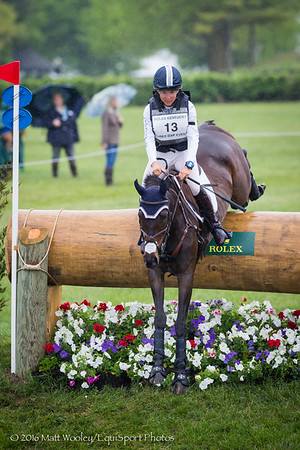 Angela Grzywinski and Novelle in Cross Country portion of the Rolex 3-Day Event at the Ky. Horse Park 4.30.16.