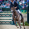 Matthew Brown and Super Socks BCF in the Stadium Jumping portion of the Rolex 3-Day Event at the Ky. Horse Park 5.01.16.