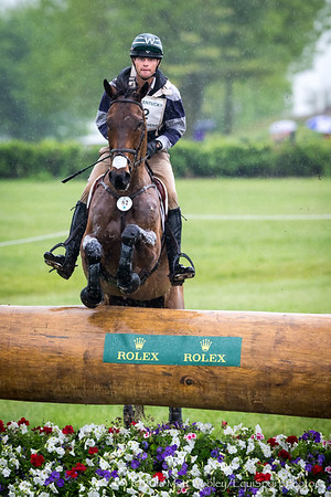 Ryan Wood and McLovin in the Cross Country portion of the Rolex 3-Day Event at the Ky. Horse Park 4.30.16.