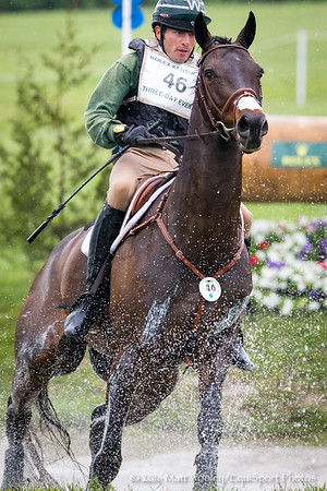 Ryan Wood and Fernhill Classic in the Cross Country portion of the Rolex 3-Day Event at the Ky. Horse Park 4.30.16.