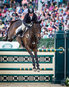 Sarah Cousins and Tsunami in the Stadium Jumping portion of the Rolex 3-Day Event at the Ky. Horse Park 5.01.16.
