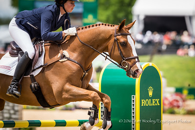 Lillian Heard and Share Option in the Stadium Jumping portion of the Rolex 3-Day Event at the Ky. Horse Park 5.01.16.