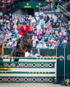 Boyd Martin and Shamwari 4 in the Stadium Jumping portion of the Rolex 3-Day Event at the Ky. Horse Park 5.01.16.