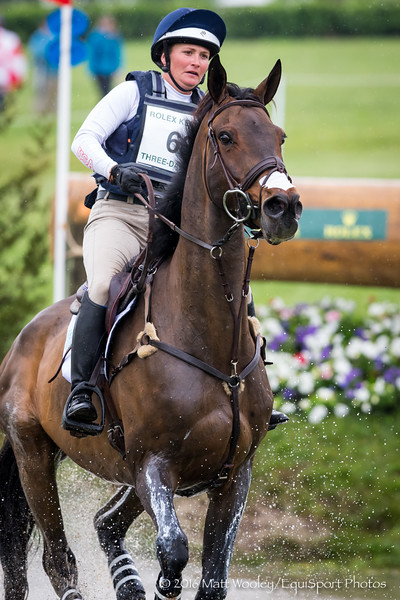Hannah Sue Burnett and Harbour Pilot in the Cross Country portion of the Rolex 3-Day Event at the Ky. Horse Park 4.30.16.