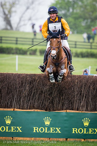 Phillip Dutton and Fernhill Fugitive in the Cross Country portion of the Rolex 3-Day Event at the Ky. Horse Park 4.30.16.