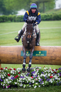 Sarah Cousins and Tsunami in the Cross Country portion of the Rolex 3-Day Event at the Ky. Horse Park 4.30.16.