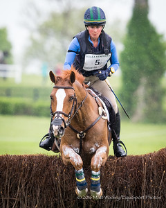 Lillian Heard and Share Option in the Cross Country portion of the Rolex 3-Day Event at the Ky. Horse Park 4.30.16.