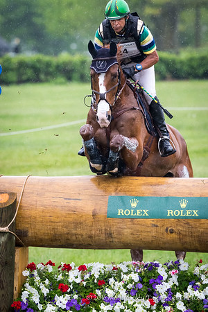 Nilson Moreira da Silva and Muggle in the Cross Country portion of the Rolex 3-Day Event at the Ky. Horse Park 4.30.16.