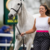 Lisa Barry and F.I.S. Prince Charming, jog for the Rolex 3-Day Event at the Ky. Horse Park 4.27.16.