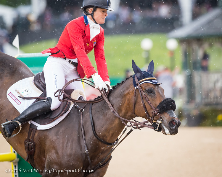 Lynn Symanski and Donner in the Stadium Jumping portion of the Rolex 3-Day Event at the Ky. Horse Park 5.01.16.