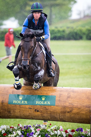 Lillian Heard and LCC Barnaby in the Cross Country portion of the Rolex 3-Day Event at the Ky. Horse Park 4.30.16.