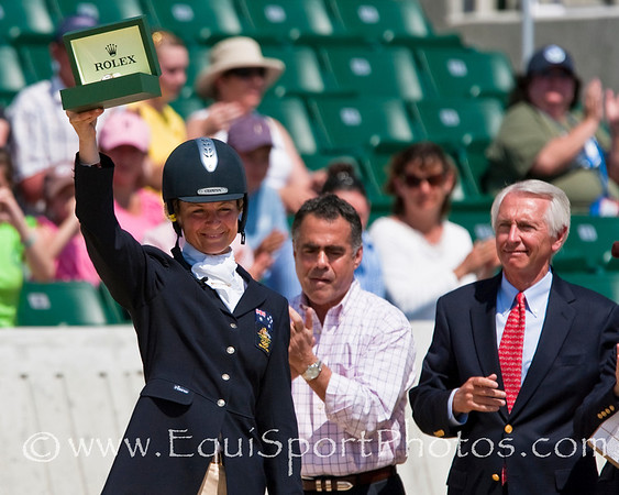 Lucinda Fredericks (Aus), with Governor Steve Bershear at the Rolex Kentucky Three Day Event 04.26.2009 in Lexington, Ky. (EquiSport Photos)