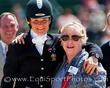 Lucinda Fredericks (Aus), with Jane Atkinson at the Rolex Kentucky Three Day Event 04.26.2009 in Lexington, Ky. (EquiSport Photos)