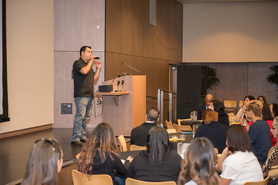 """Diversity and Inclusion Forum 2016 held at CSUDH.  Sumun L. Pendakur gave the keynote lecture and Dr. Miguel Gutierrez demonstrated the """"Theater of the Oppressed"""""""