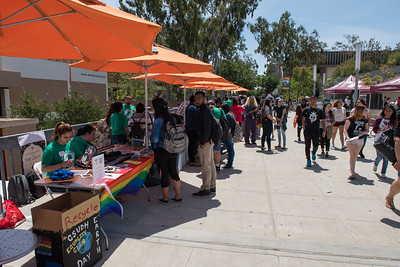 Students celebrate the 2016 Earth Day at CSUDH