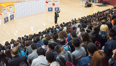 GPS your Future. Key note speaker, Stedman Graham addresses the high school audience about their future and their own identity