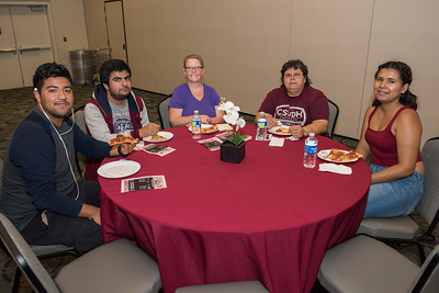 Pizza Lunch with Dean Joseph Wen and the CBAPP students and faculty.  College of Business Administration and Public Policy