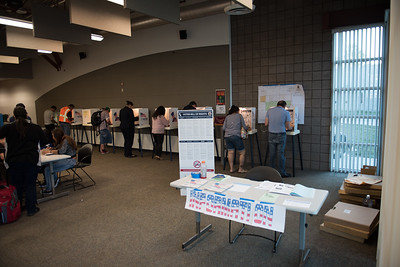Voting Day, November 7 2016, Dominguez Hosts a Voting center for staff and students