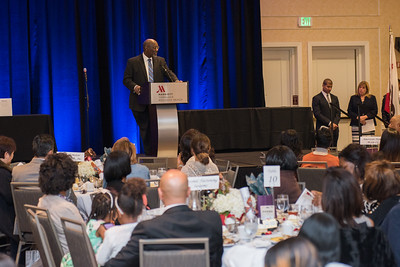 CSUDH celebrates Black History Month at the Marriott Torrance Redondo Beach where President Dr. Hagan and grad student Asia Watkins were honored for their achievements.