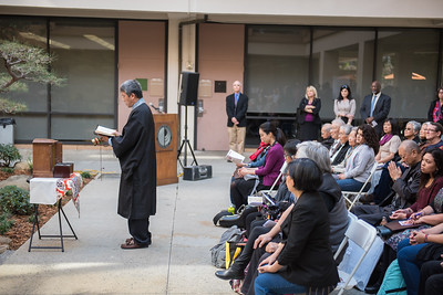 "The Japanese American Garden at California State University Dominguez Hills.  Paying tribute to the Japanese americans who were held in internment camps.  ""And then they came for us"" event."