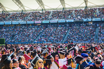 California State University Dominguez Hills 2017 Commencement Ceremony College of Health and Human Services and Nursing, College of Business Administration & Public Policy held in the StubHub stadium on campus at CSUDH on May 19th 2017