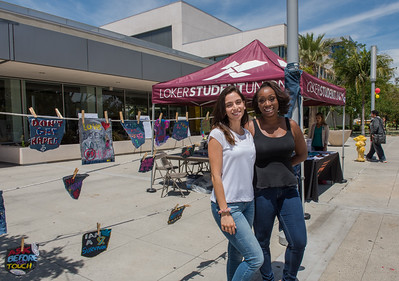 """CSUDH raises awarness of domestic violence and rape by dedicating a a day to """"Denim Day"""" on campus."""