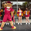 CSUDH Homecoming week festivities.  The new Teddy the Toro unveiling along with a free pancake breakfast, the Involvement Fair held on campus at California State University Dominguez Hills in February 2017