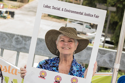 2017 Labor Social and Envrionmental Fair on the East walkway of CSUDH; clubs, oragizations and departments set up table with information and activities for students to participate
