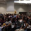 Incoming freshmen gather at new student orientation.