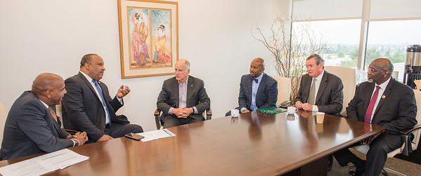 Senator Bradford's Roundtable Discussionwith Governor Brown on Transportation Diversity at California State University Dominguez Hills