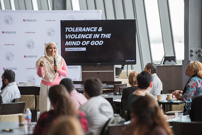 Tolerance and violence in the mind of god speaker series with guest speaker Najeeba Syeed held in the DH university library south