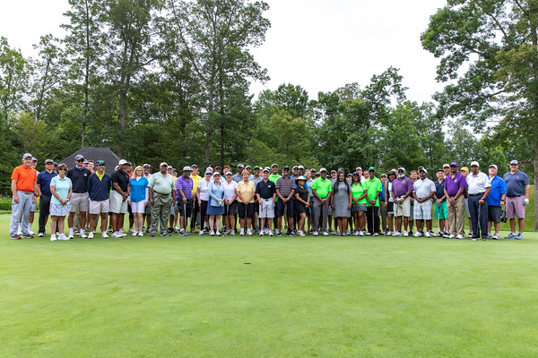 Participants gather before the 25th Annual Diversity Scholarship Golf Classic. Photo by: Shelby Burgess/Strategic Communications/George Mason University