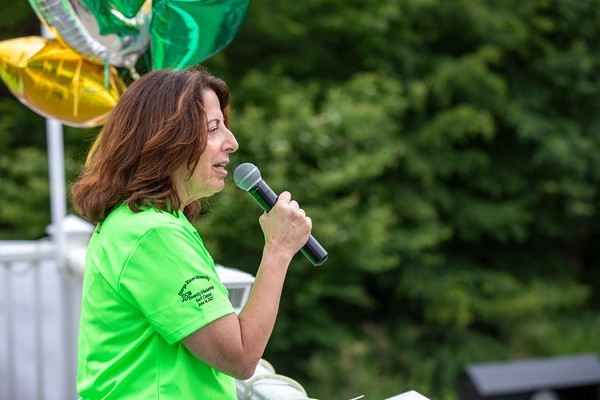 Rose Pascarell gives opening remarks at the 25th Annual Diversity Scholarship Golf Classic. Photo by: Shelby Burgess/Strategic Communications/George Mason University, Gregory Washington