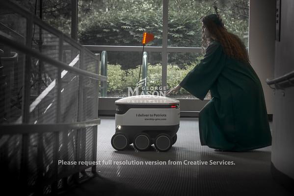 Sofya Vetrova with Starship Robots