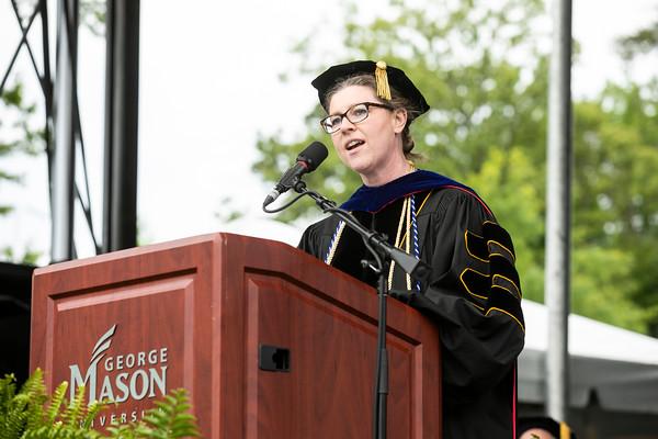Professor of Sociology, Chair of Mason Faculty Senate, Shannon Davis  Photo by:  Ron Aira/Creative Services/George Mason University