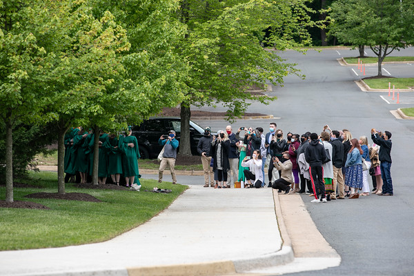 Graduates and their guests attend the 2021 College of Visual and Performing Arts Mini Ceremony. Photo by: Shelby Burgess/Strategic Communications/George Mason University