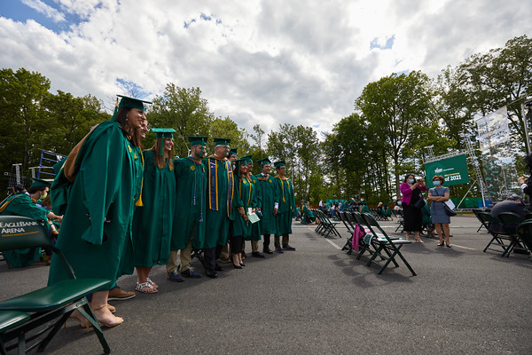 Graduates and their guests attend the 2021 School of Business Mini Ceremony.