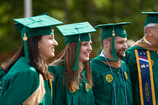 Graduates and their guests attend the 2021 Volgenau School of Engineering II Mini Ceremony