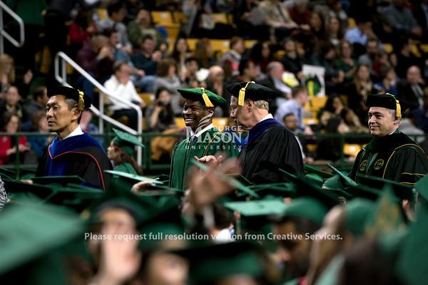 2018 Winter Graduation Processional. Photo by Bethany Camp/Creative Services/George Mason University