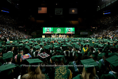 President Ángel Cabrera speaks during the 2018 Winter Graduation at the Fairfax Campus.  Photo by Bethany Camp/Creative Services/George Mason University